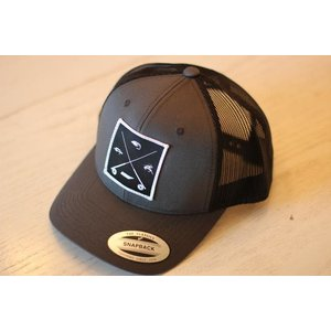 TN FLY CO CHOICES PATCH TRUCKER HAT - GRAY
