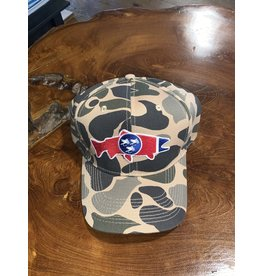 TENNESSEE TROUT OLD SCHOOL DUCK CAMO TRUCKER HAT
