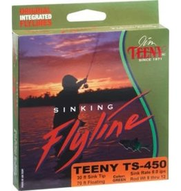 Teeny TS-450 Sinking Line-Green/Black-#9-12
