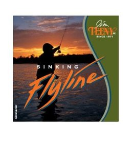 Teeny T-130 Sinking Line-Green/Black-#4-6