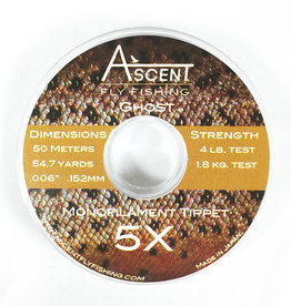 Ascent Fly Fishing Ghost Mono Tippet 5x