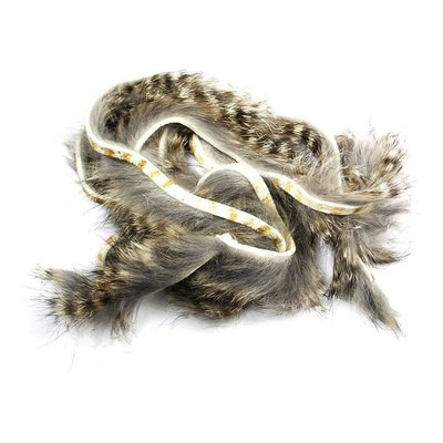 Hareline Dubbin Black Barred Rabbit Strips