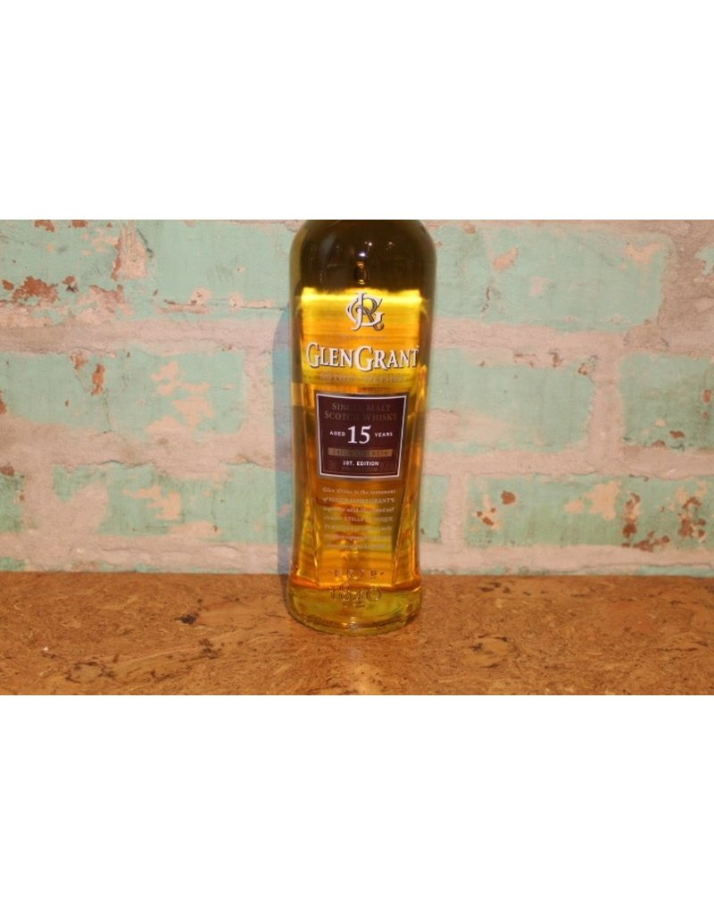 GLEN GRANT SINGLE MALT 15 YEAR OLD SCOTCH WHISKEY