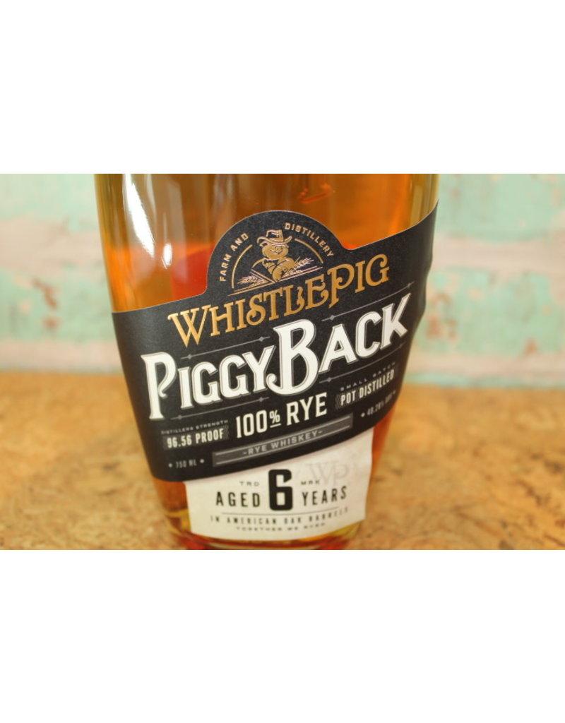 WHISTLEPIG RYE PIGGYBACK 6 YEAR