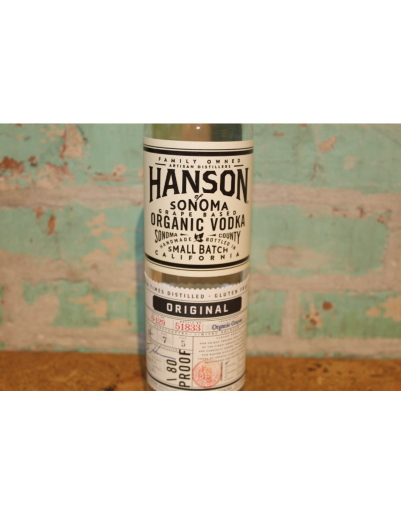 HANSON OF SONOMA ORGANIC VODKA