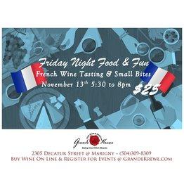 FRENCH FRIDAY FOOD AND FUN, NOVEMBER 13th