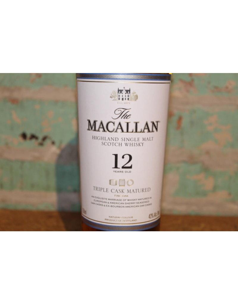 MACALLAN  12 YEAR TRIPLE CASK HIGHLAND SINGLE MALT WHISKY