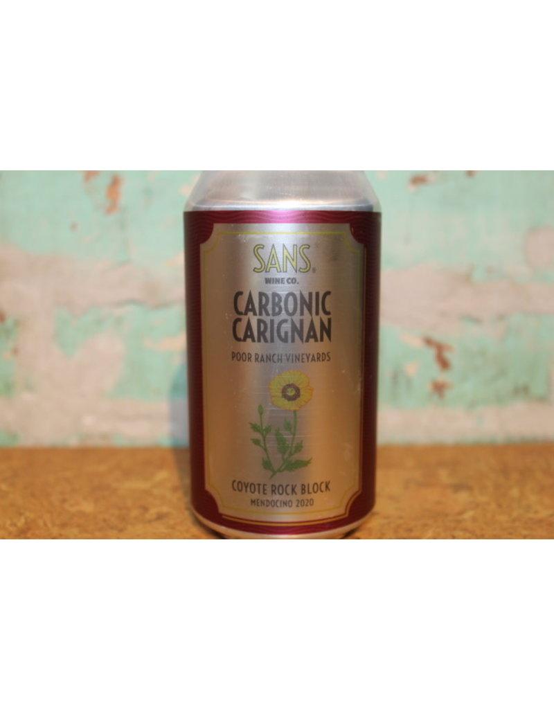 SANS WINE CO. CARBONIC CARIGNAN CAN