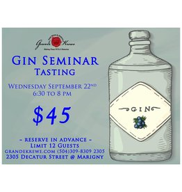 GIN SEMINAR - WEDNESDAY, SEPTEMBER 22nd