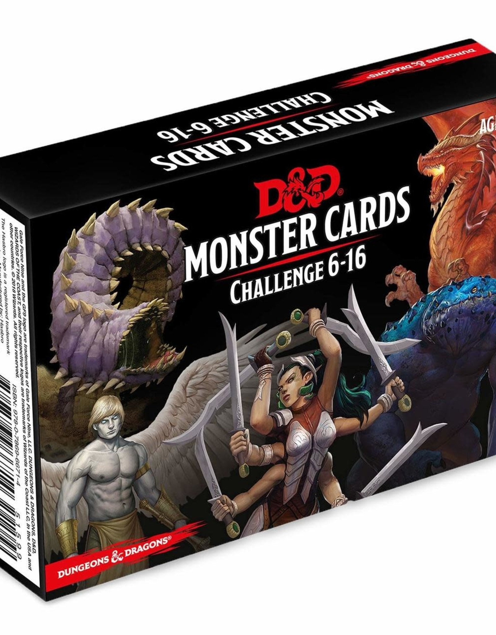 Wizards of the Coast Dungeons & Dragons Monster Cards Challenge 6-16