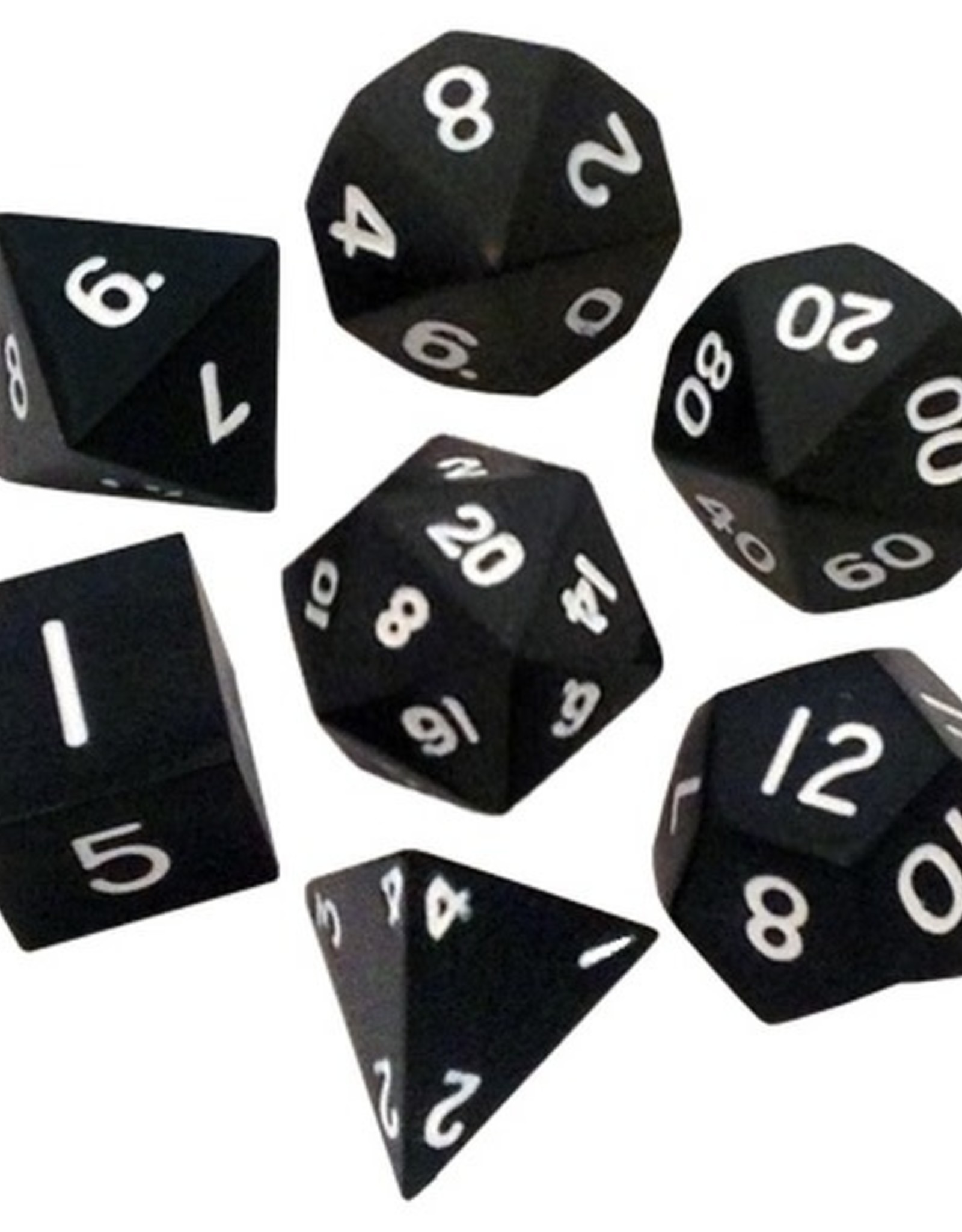 Metallic Dice Games Poly Metal Dice Black