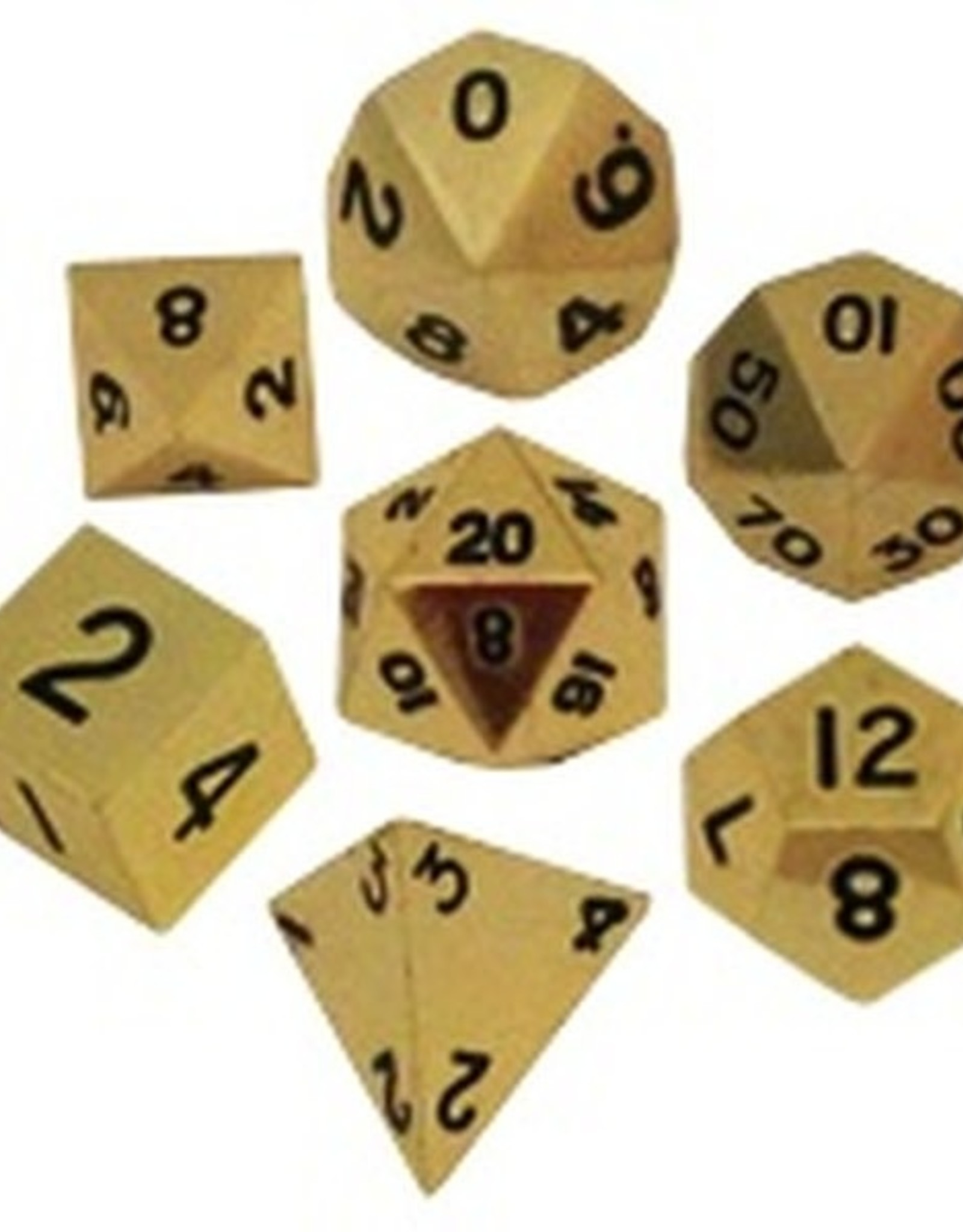 Metallic Dice Games Poly Metal Dice Gold