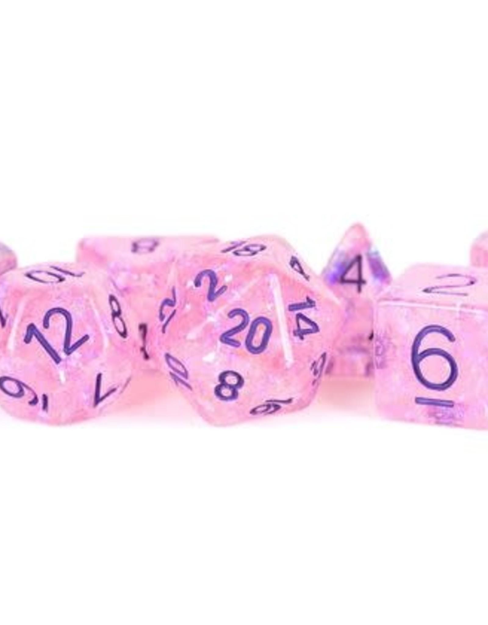 Metallic Dice Games Poly Set Dice Flash Pink