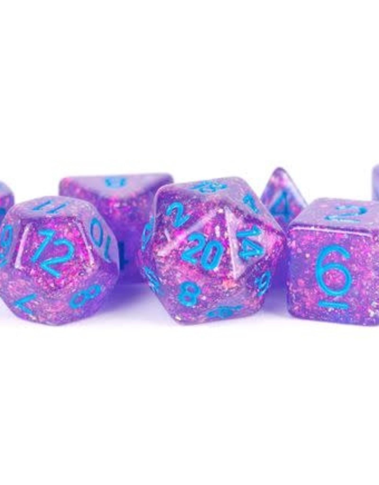 Metallic Dice Games Poly Set Dice Flash Purple