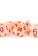 Metallic Dice Games Poly Set Dice Flash Red