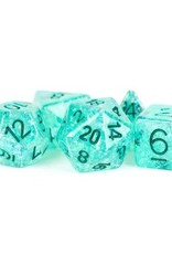 Metallic Dice Games Poly Set Dice Flash Teal