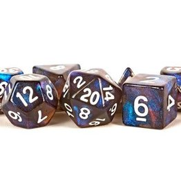 Metallic Dice Games Poly Dice Set Stardust: Galaxy
