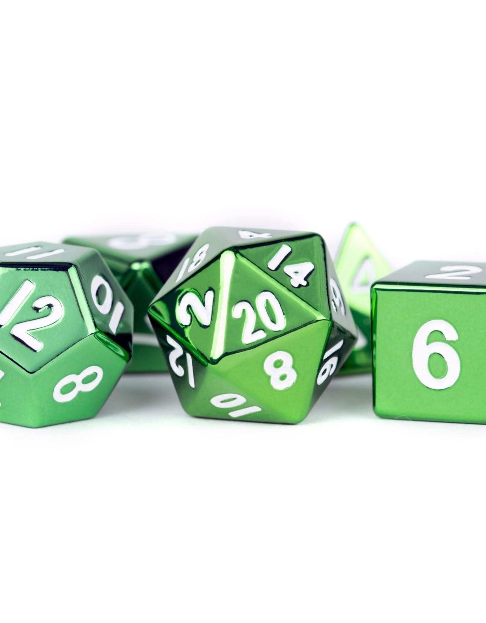 Metallic Dice Games Metal Dice Set Green