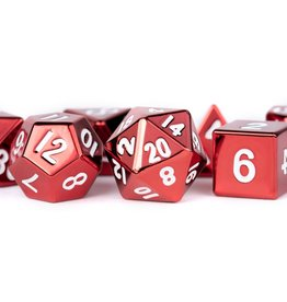 Metallic Dice Games Poly Metal Dice Set Red