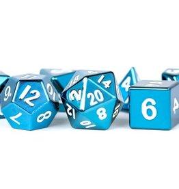 Metallic Dice Games Poly Metal Dice Set Blue