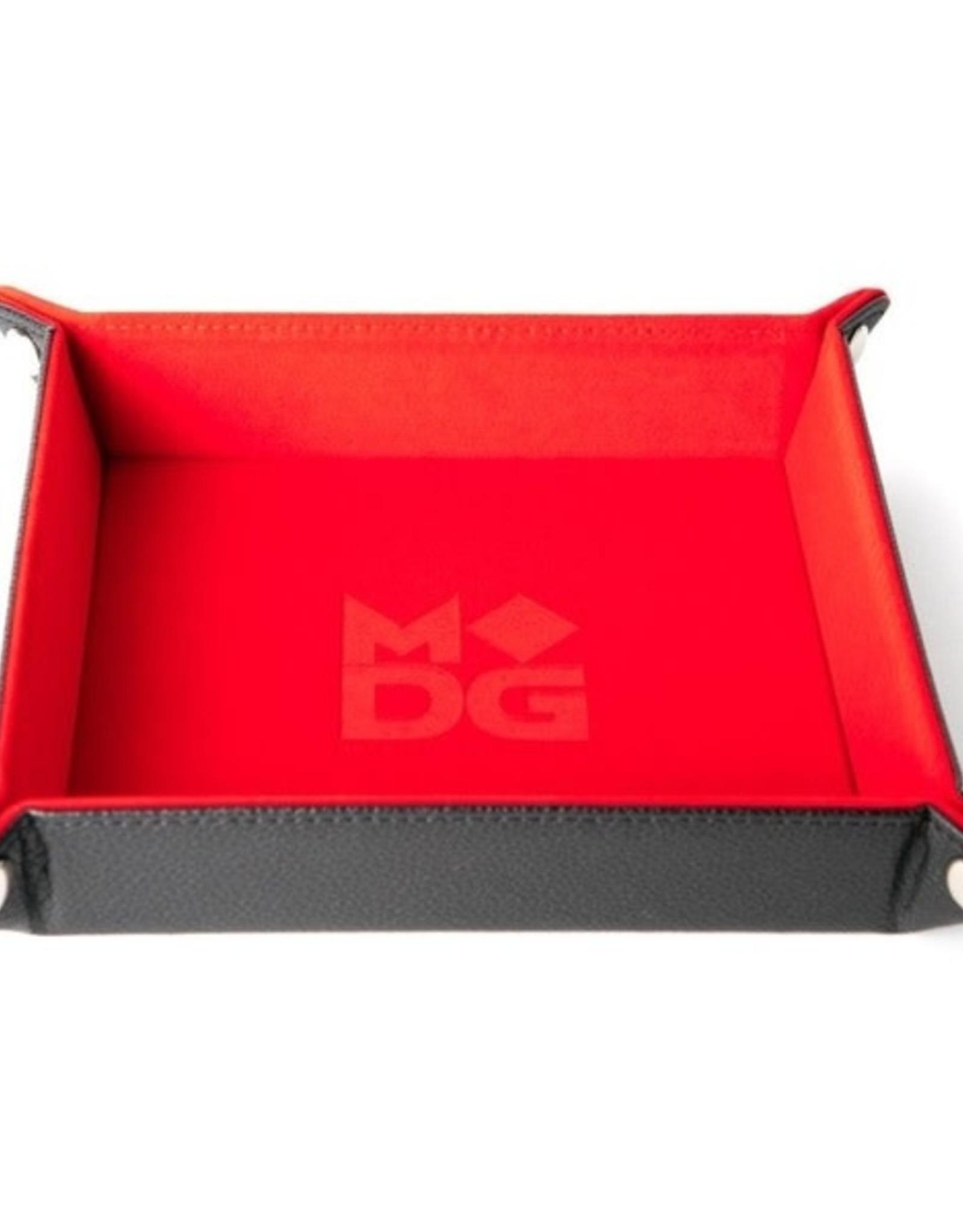 Metallic Dice Games Folding Dice Tray Red Velvet
