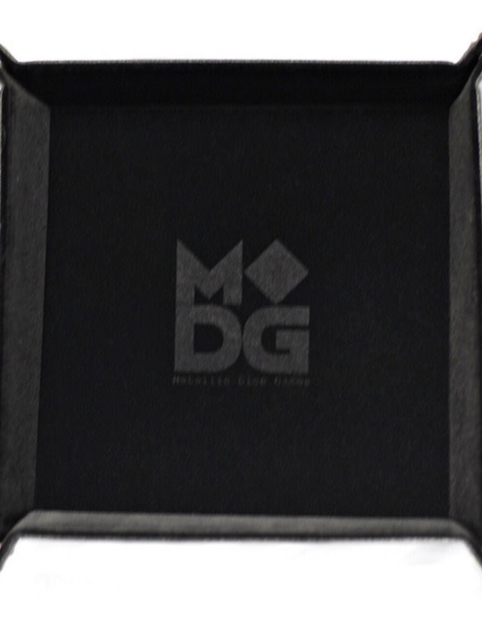 Metallic Dice Games Folding Dice Tray Black Velvet