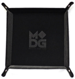 Metallic Dice Games Folding Dice Tray Black Velvet