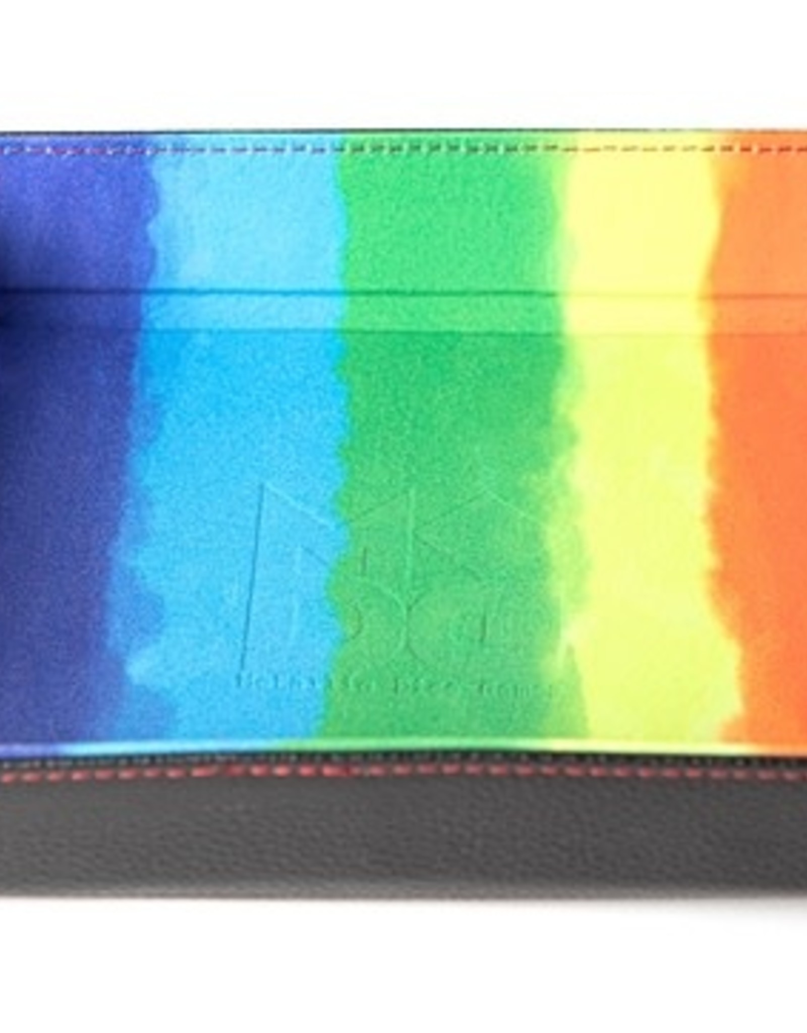 Metallic Dice Games Folding Dice Tray Rainbow Velvet