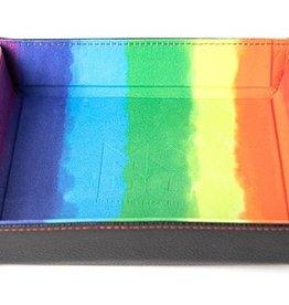 Metallic Dice Games Folding Dice Tray Rainbow Velvet