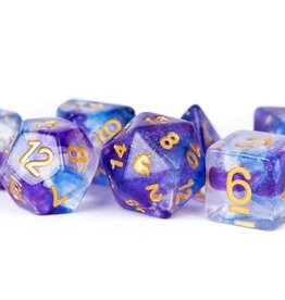 Metallic Dice Games Poly Dice Set Unicorn: Midnight Fantasy