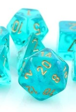 Chessex Poly Dice Set Borealis Teal w/ Gold