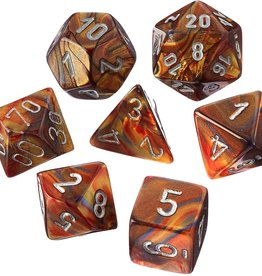 Chessex Poly Dice Set Lustrous Gold w/ Silver