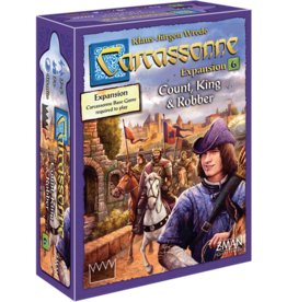 Z-Man Games Carcassonne Exp 6 Count, King & Robber
