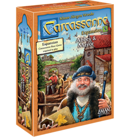 Z-Man Games Carcassonne Exp 5 Abbey & Mayor