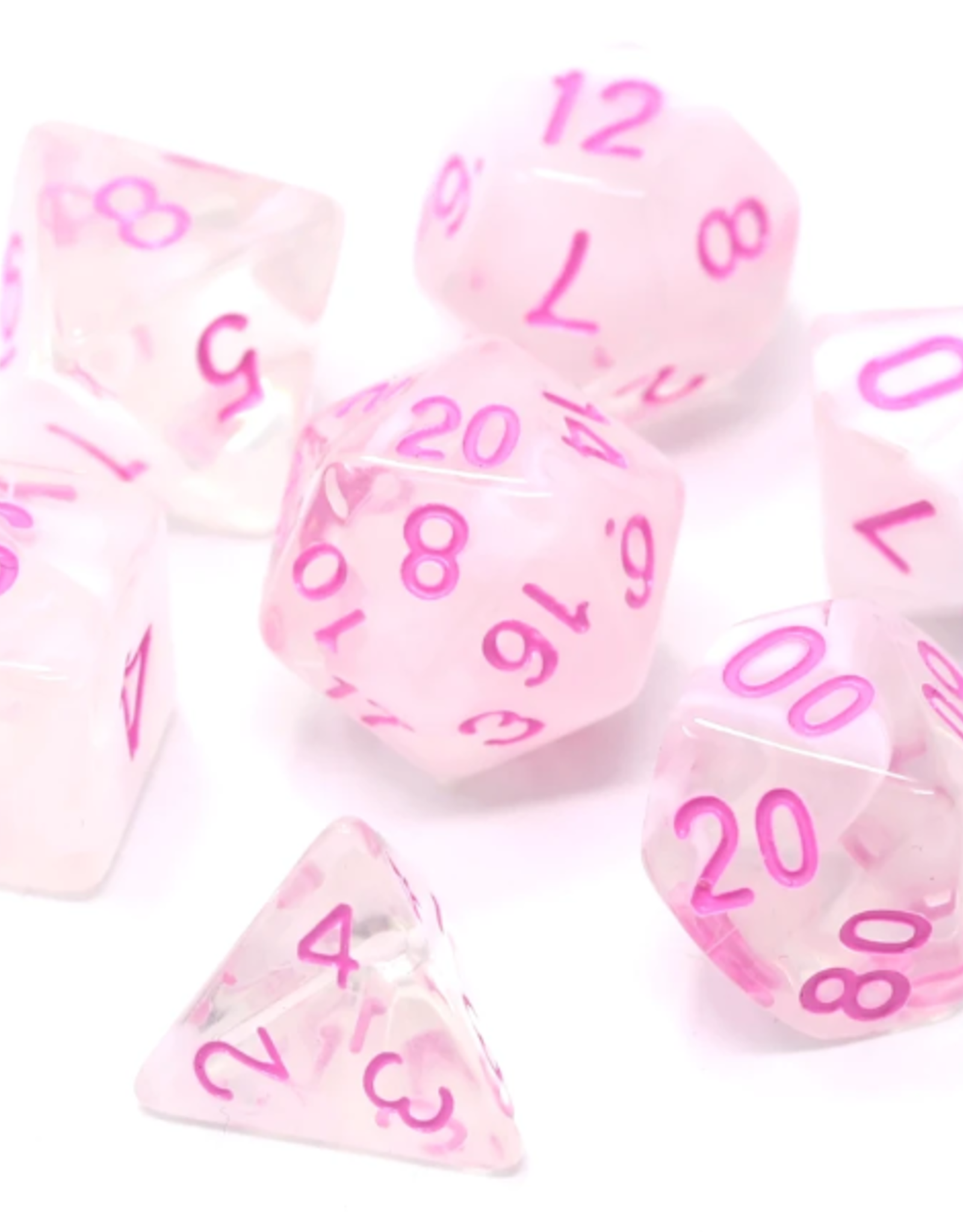 Die Hard Dice Poly Dice Set Crystal Rose