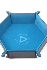 Die Hard Dice Folding Hex Tray Teal Velvet