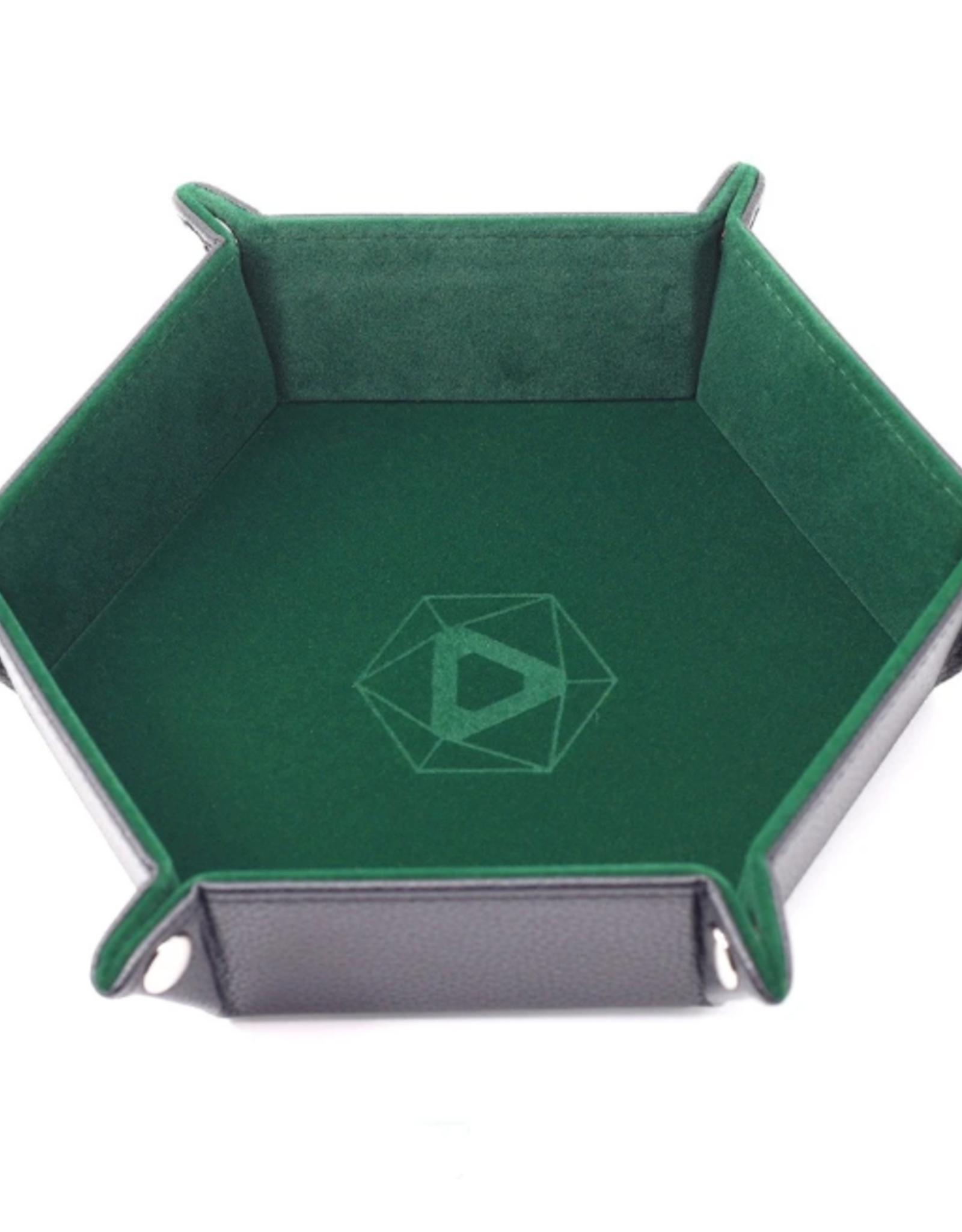 Die Hard Dice Folding Hex Tray Green Velvet