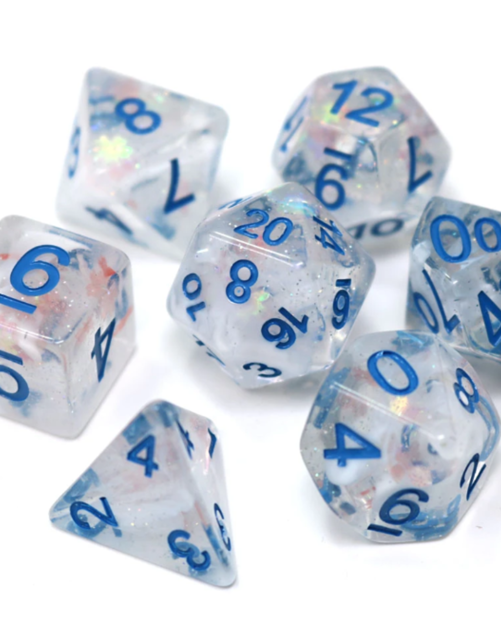 Die Hard Dice Poly Dice Set Blue Snowdrift