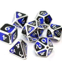 Die Hard Dice 7 Metal Dice Set Dark Arts Riptide