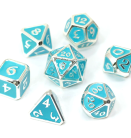 Die Hard Dice 7 Metal Dice Set AfterDark Neon Rain