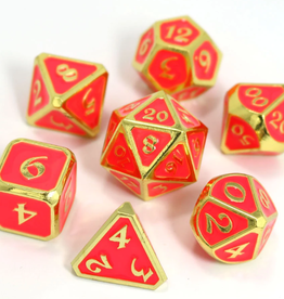 Die Hard Dice 7 Metal Dice Set AfterDark Neon Bloom