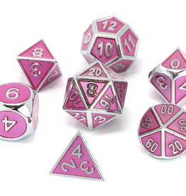 Die Hard Dice 7 Metal Dice Set Gemstone Coll Pink Sapphire
