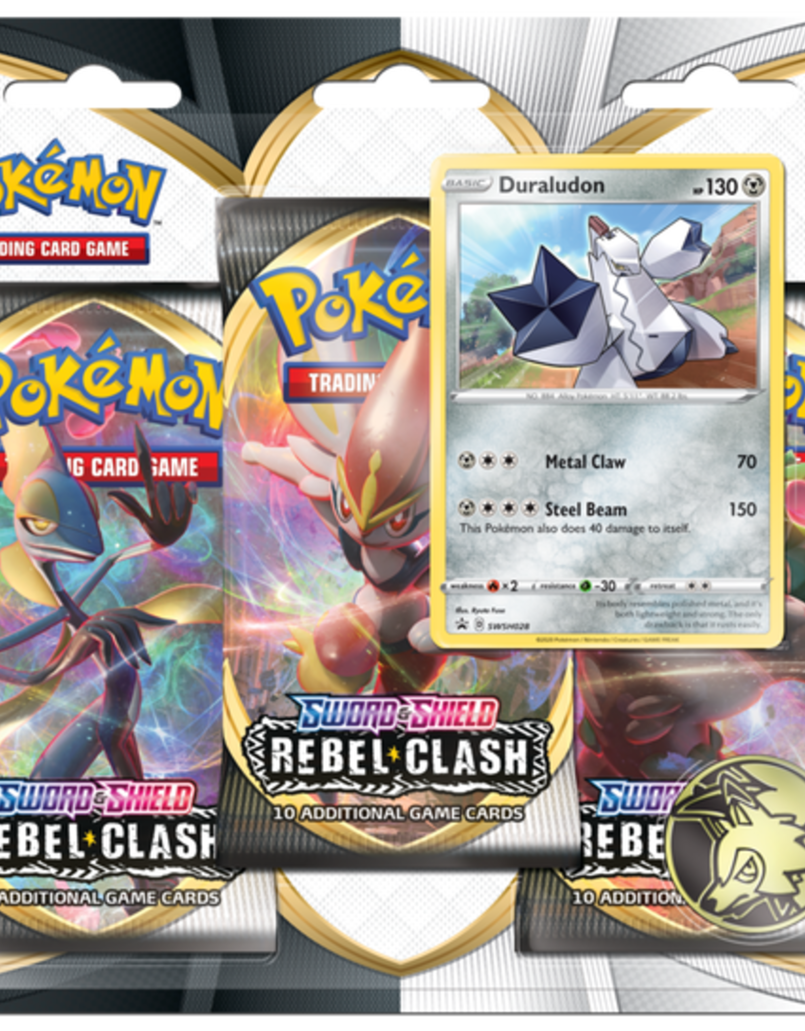 Pokemon Pokemon Rebel Clash 3 Pack Blister