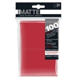 Ultra PRO 100ct Pro Matte Red Sleeves