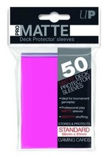 Ultra PRO 50ct Pro Matte Bright Pink Sleeves