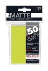 Ultra PRO 50ct Pro Matte Bright Yellow Sleeves