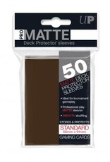 Ultra PRO 50ct Pro Matte Brown Sleeves