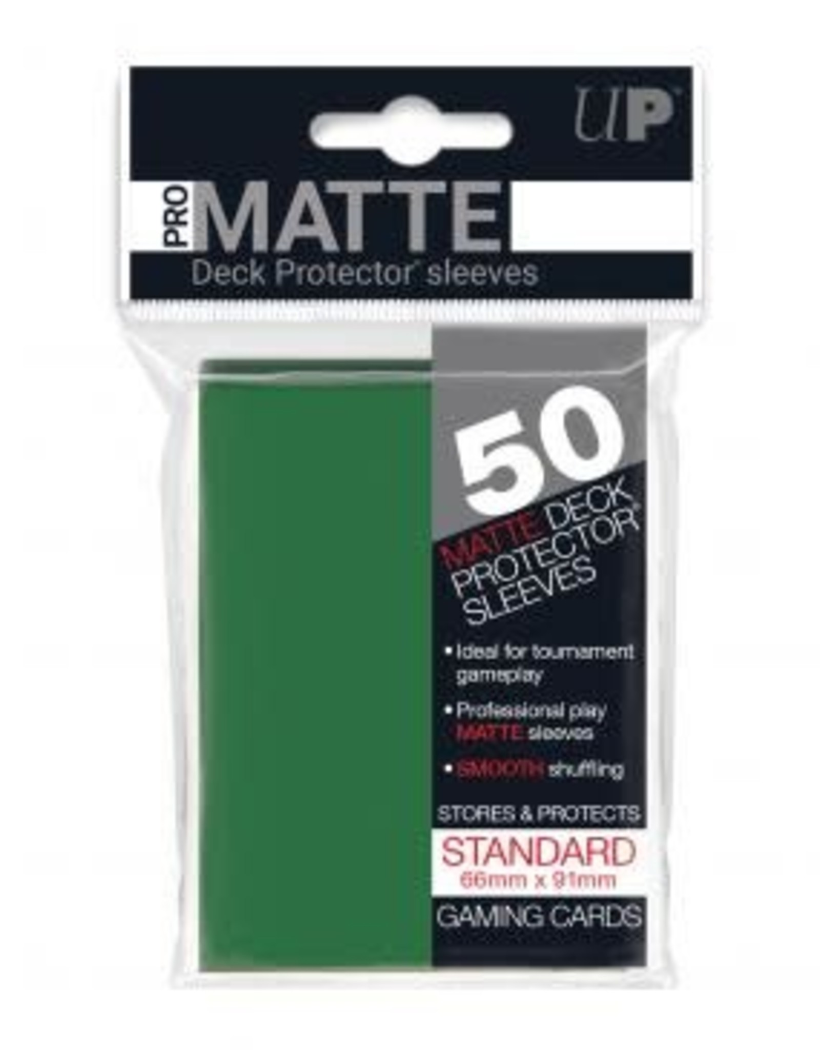 Ultra PRO 50ct Pro Matte Green Sleeves