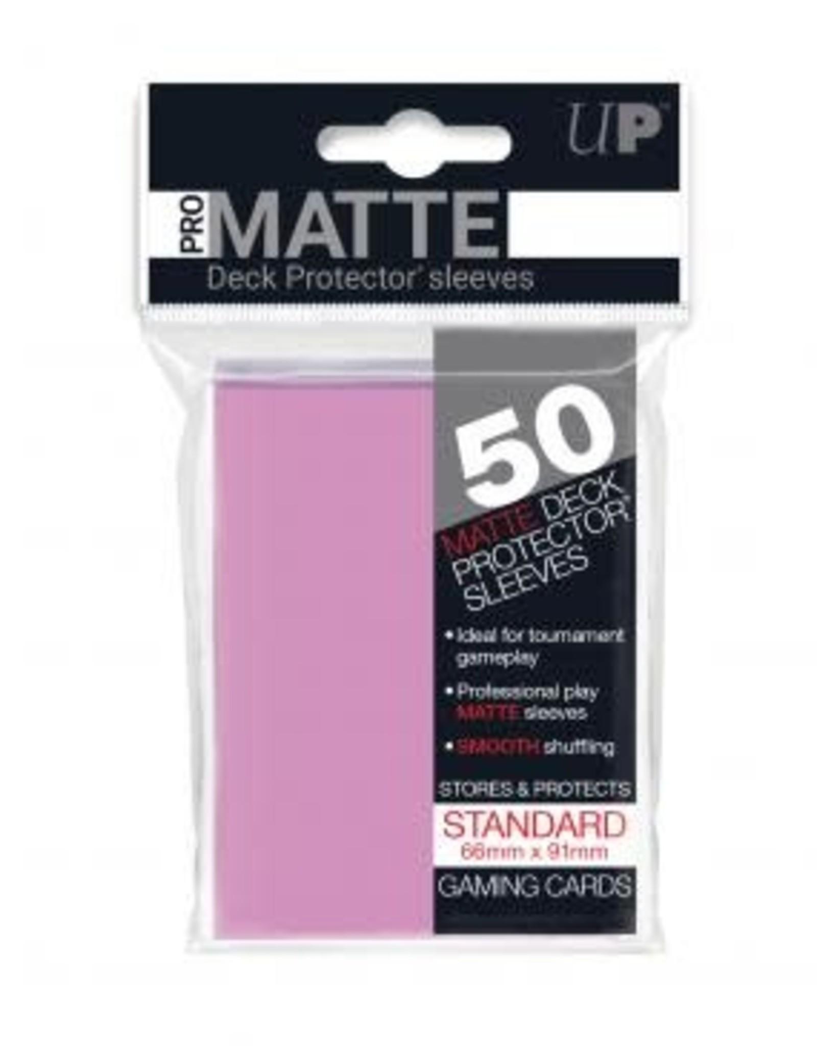 Ultra PRO 50ct Pro Matte Pink Sleeves