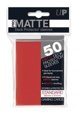 Ultra PRO 50ct Pro Matte Red Sleeves
